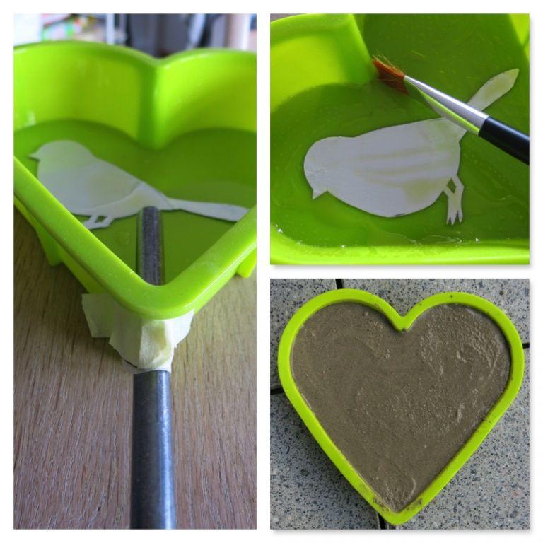Ein Herz für Mütter - Gartenherz aus Beton selber machen! - 107qm-schwarz auf weiß #gartendekoselbermachen
