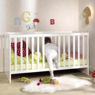 babybett gitterbett kinderbett luna hochglanz wei umbaubar 70x140cm baby pinterest. Black Bedroom Furniture Sets. Home Design Ideas