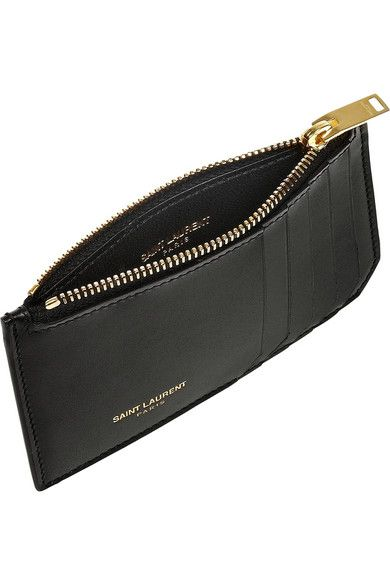 info for d494b 708a6 SAINT LAURENT Zipped leather card holder $345 This clean design has ...