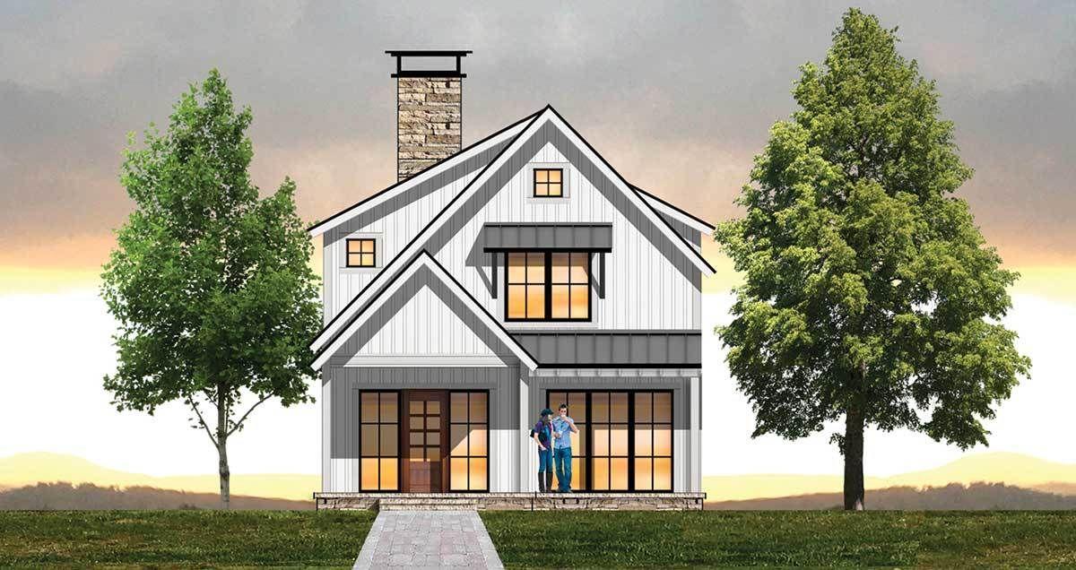 Plan 18854ck Cozy 3 Bed Farmhouse Plan In 2021 Farmhouse Plans House Plans Farmhouse