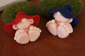 Bebés gnomos clay