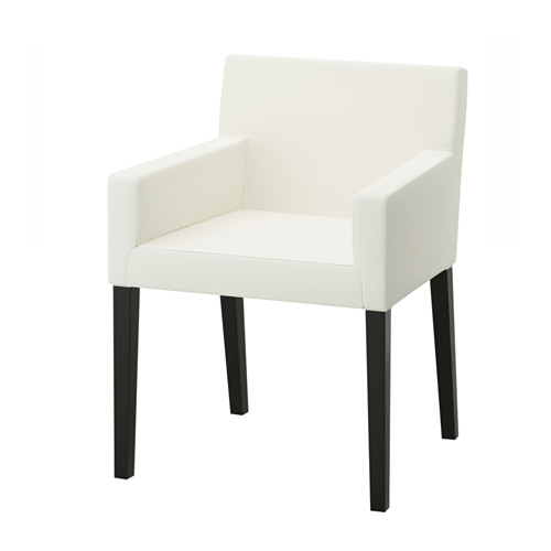 NILS Chair With Armrests Black Blekinge White Chaise Ikea Accoudoir