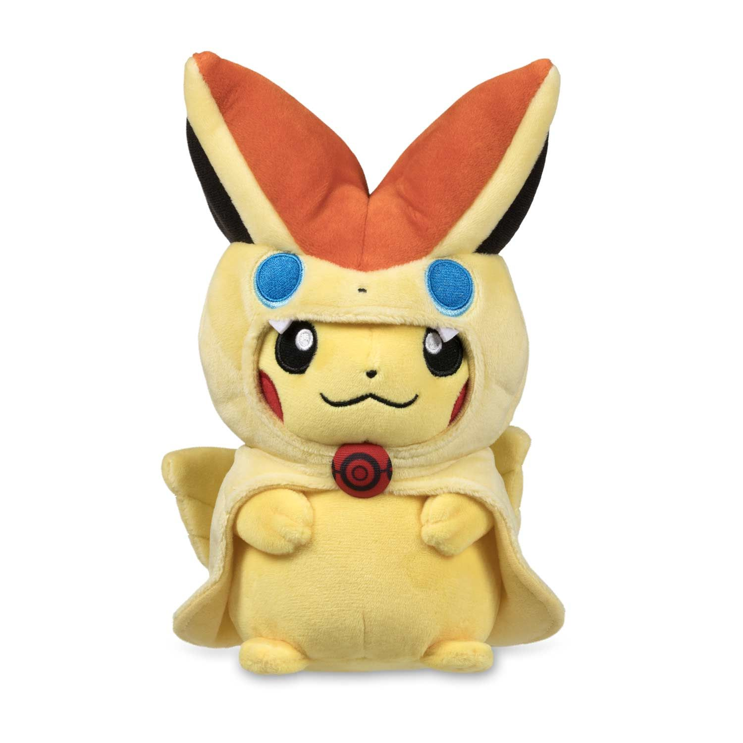 The Official Victini Cape Pikachu Poke Plush Is Ready For A