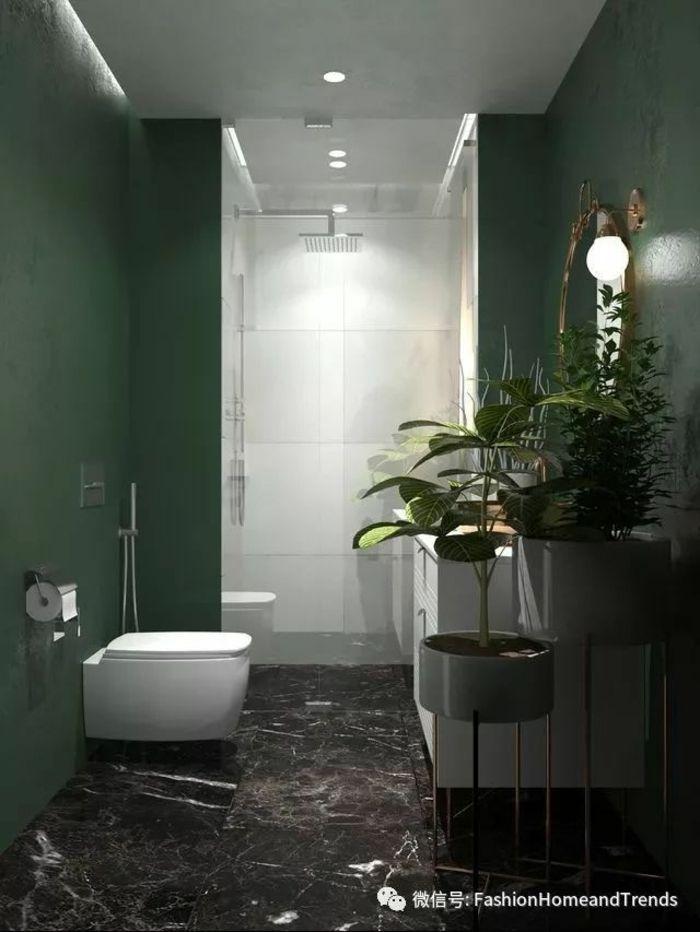 Grauer Boden Mit Großen Fliesen, Die Marmor ähneln, Zimmerpflanzen,  Badideen, Deckenleuche