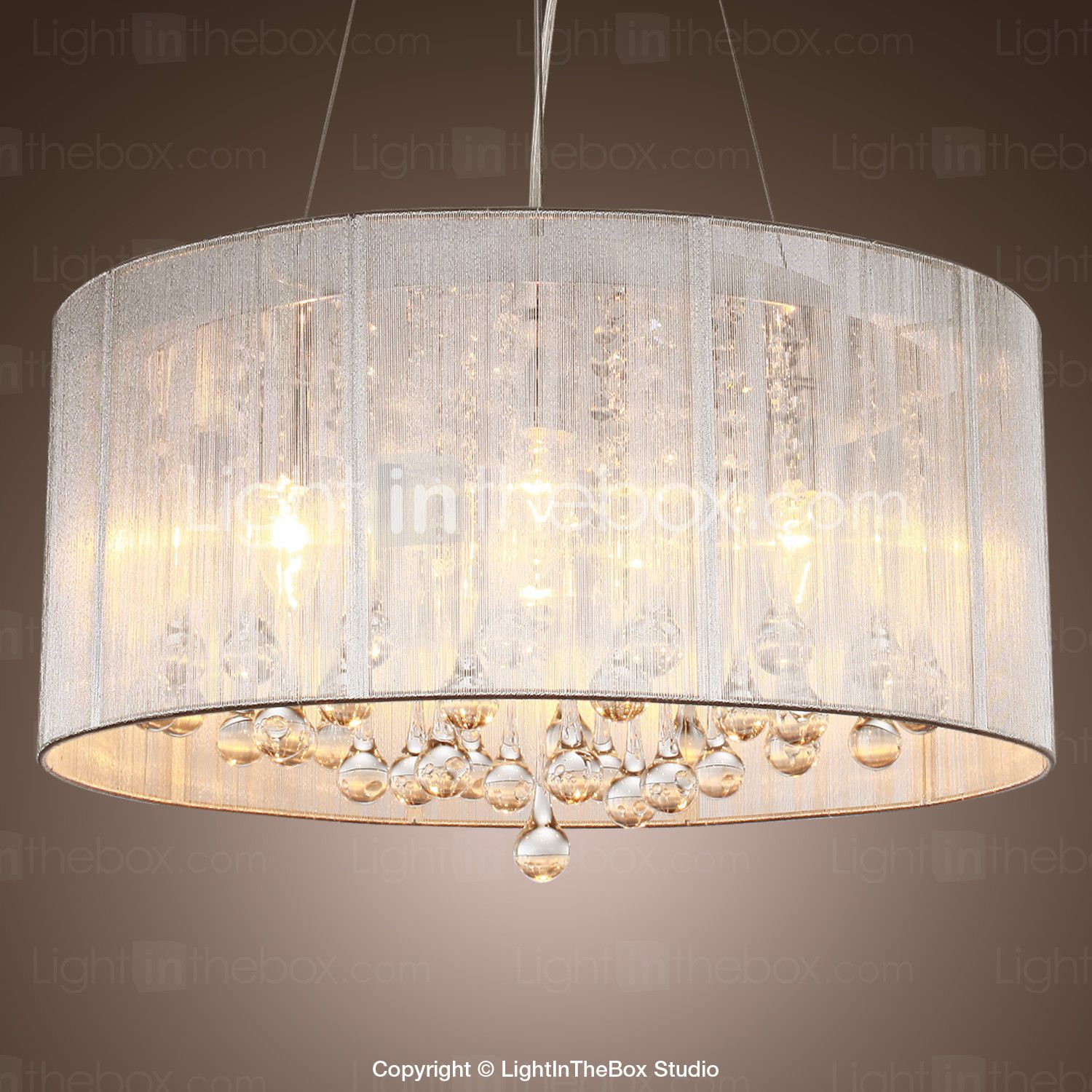 Modern Contemporary Drum Pendant Light Ambient Light For Living