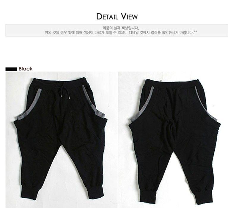 hip hop pantalones de chándal holgados danza Pantalones cortos para hombres  Pantalones de harén Casual Pantalones cortos deportivos bajos Shorts  entrepierna ... a8fc39bede5