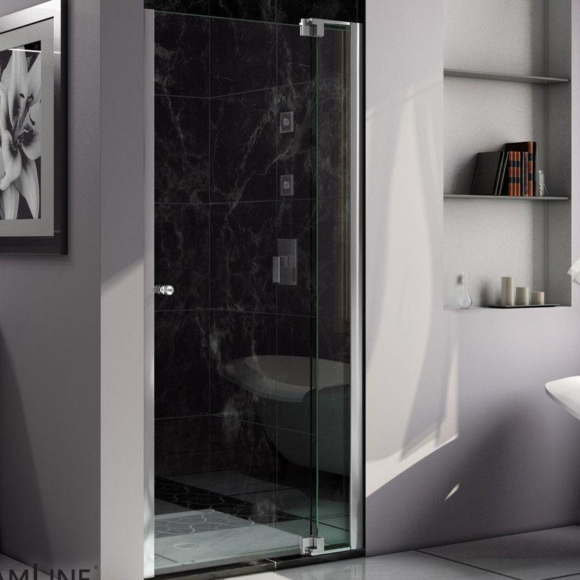 Allure 39 X 73 Pivot Frameless Shower Door Frameless Shower