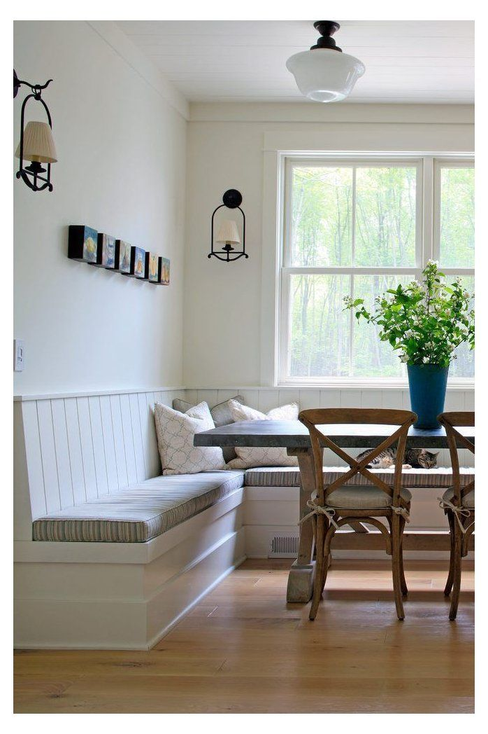 modern dining table with bench seating