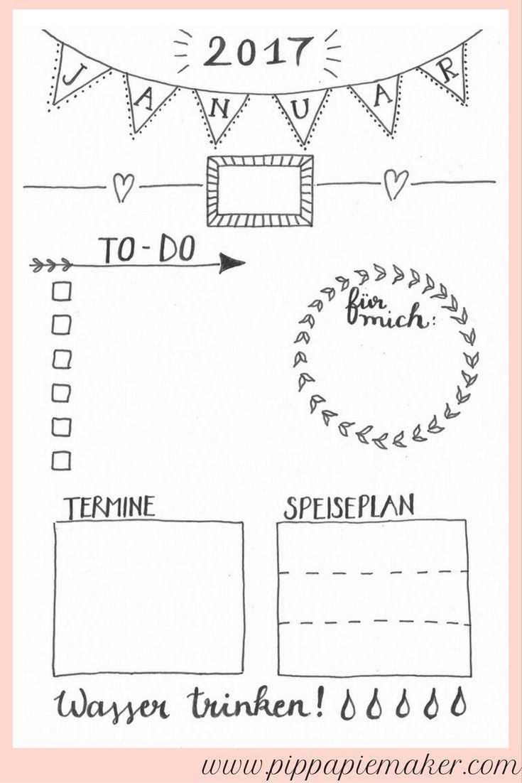 Jeden Tag Eine Kleine Freude Der Tagesplaner Pippa Pie Maker Journal Bullet Journal Planer
