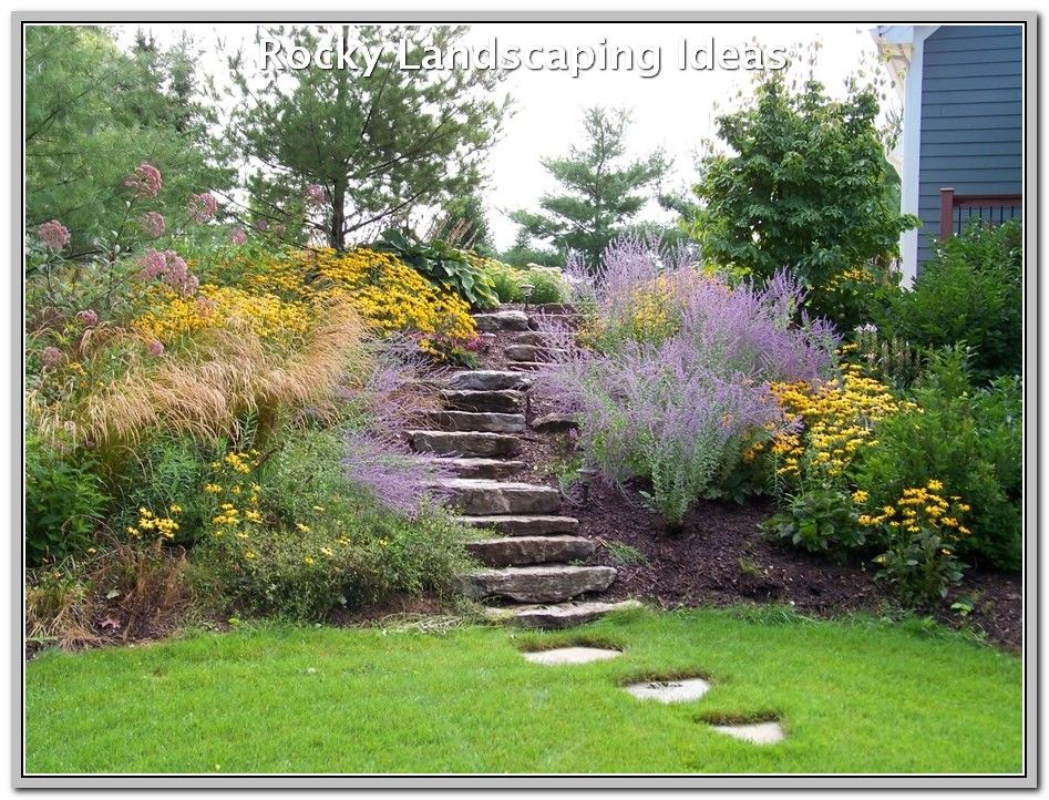 Is Landscaping Your New Found Hobby Landscaping Lovers Sloped Garden Garden Stairs Garden Design Pictures