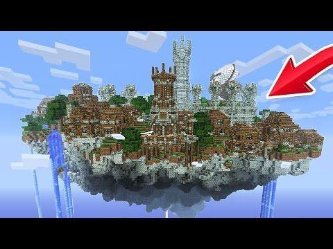 BUILDING A SKY CITY! (Minecraft Skyblock) - YouTube | Minecraft