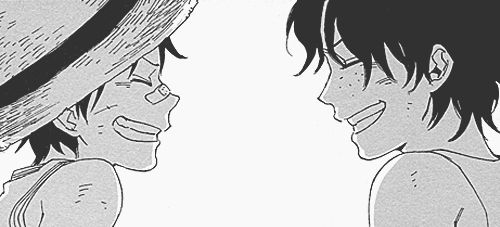 """http://24.media.tumblr.com/tumblr_m04scqkGFK1qgacc7o1_500.jpg """"Someday we'll go to the sea. We'll live as we please! More free than anyone!"""" One Piece (Luffy and Ace)"""