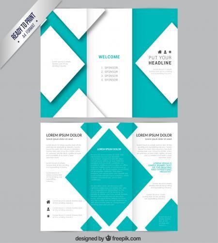 بروشور بلونين مع ملفات مفتوحه Ai و Eps جاهزه للتحميل Leaflet Design Template Leaflet Design Brochure Design Template