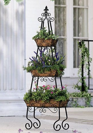 Pyramid patio planter herb garden Tiered container garden