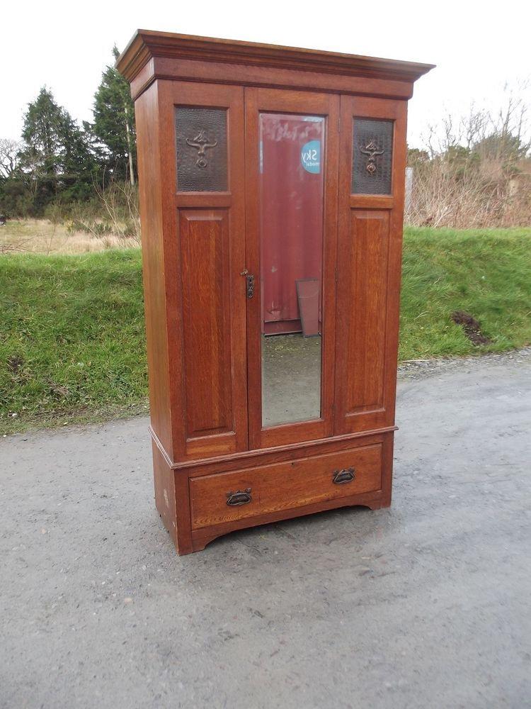 Vintage Oak Wardrobe (With images) | Oak wardrobe, Oak ...