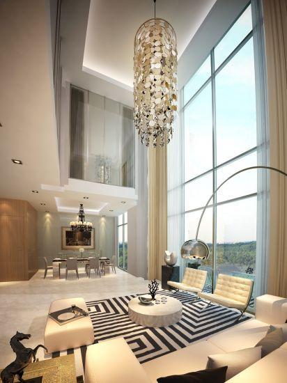 Double Volume Space M1 5 Malaysia Villa Interiors In