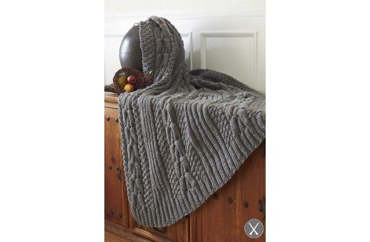 Harvest Home Horseshoe Cable Blanket with pattern | ::Knit : Throws ...