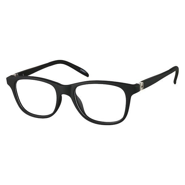 a0c162245f72a Zenni Kids Square Prescription Eyeglasses Black Bendable TR 208621 ...