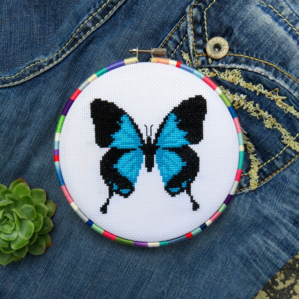 Butterfly cross stitch pattern - Ulysses - Queensland - Australia.