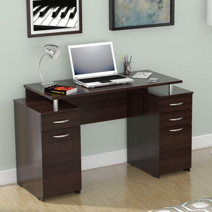 Inval Double Pedestal Computer Desk U0026 Reviews | Wayfair