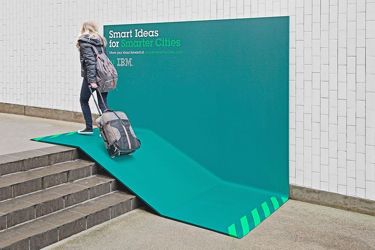 IBM Urban Furniture functional ad - shelter. By Ogilvy & Mather France.