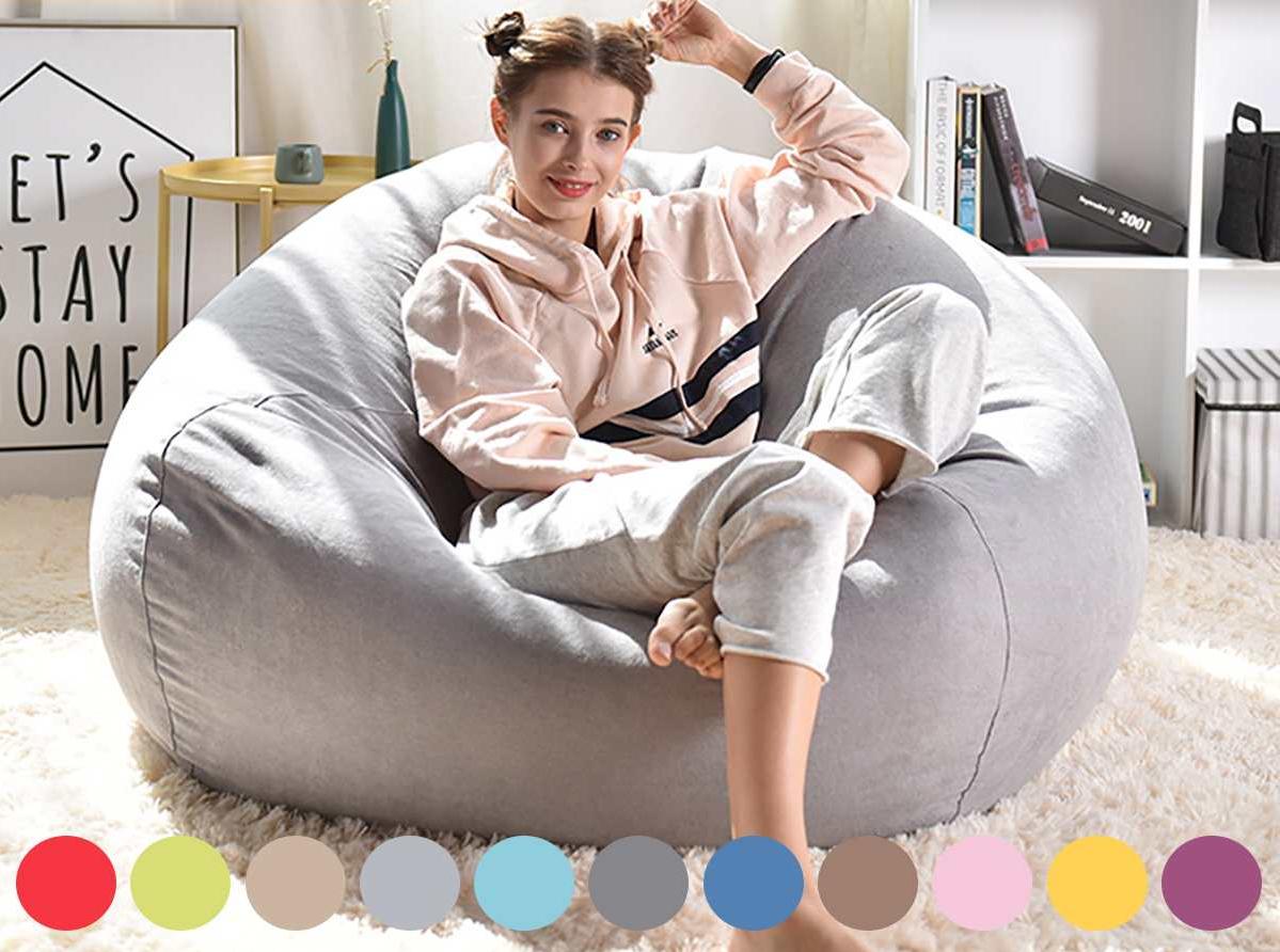 Comfortable Soft Giant Bean Bag Chair in 2020 Bean bag