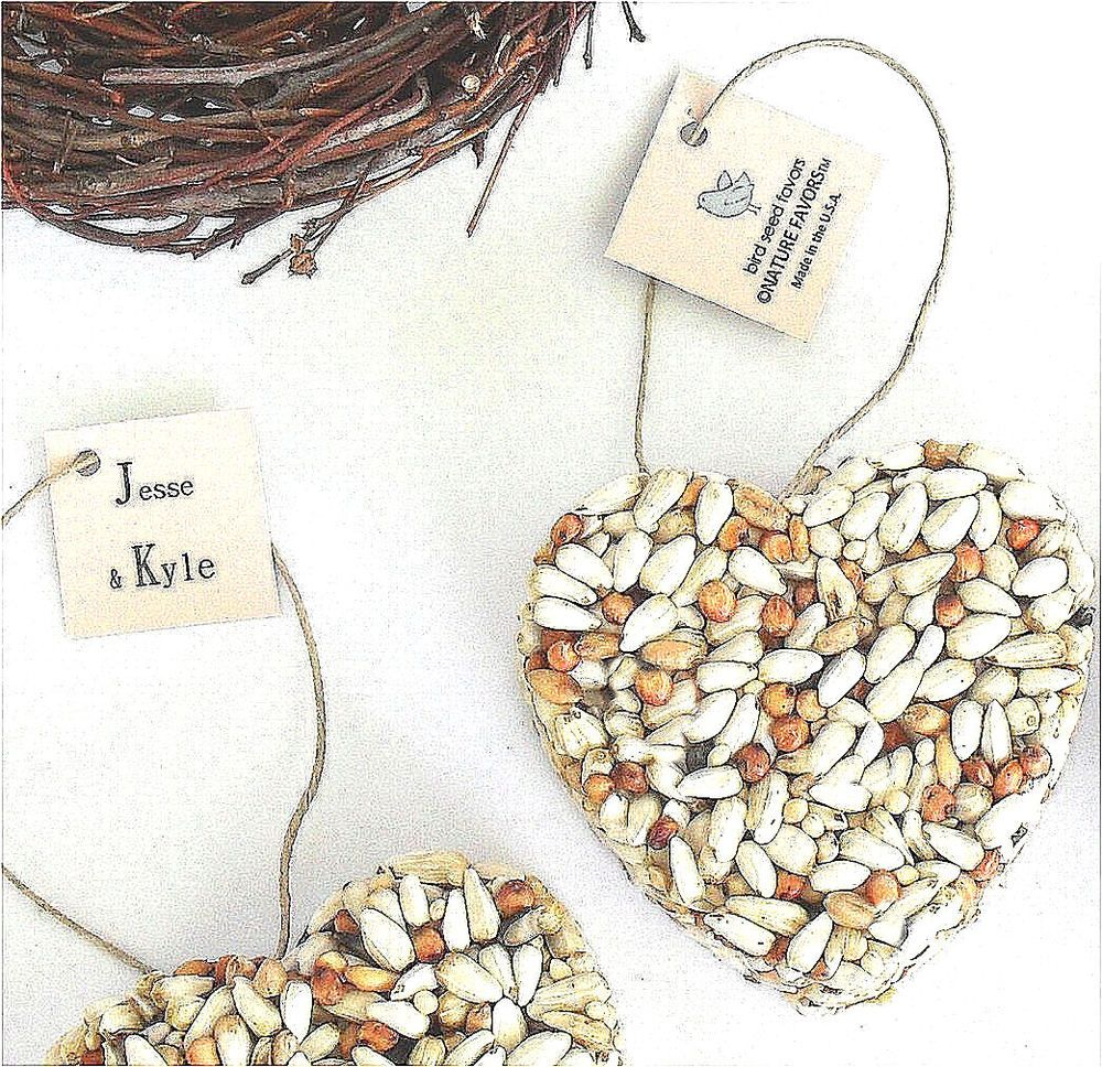 Bird Seed Heart Party Favors | Favors and Bird
