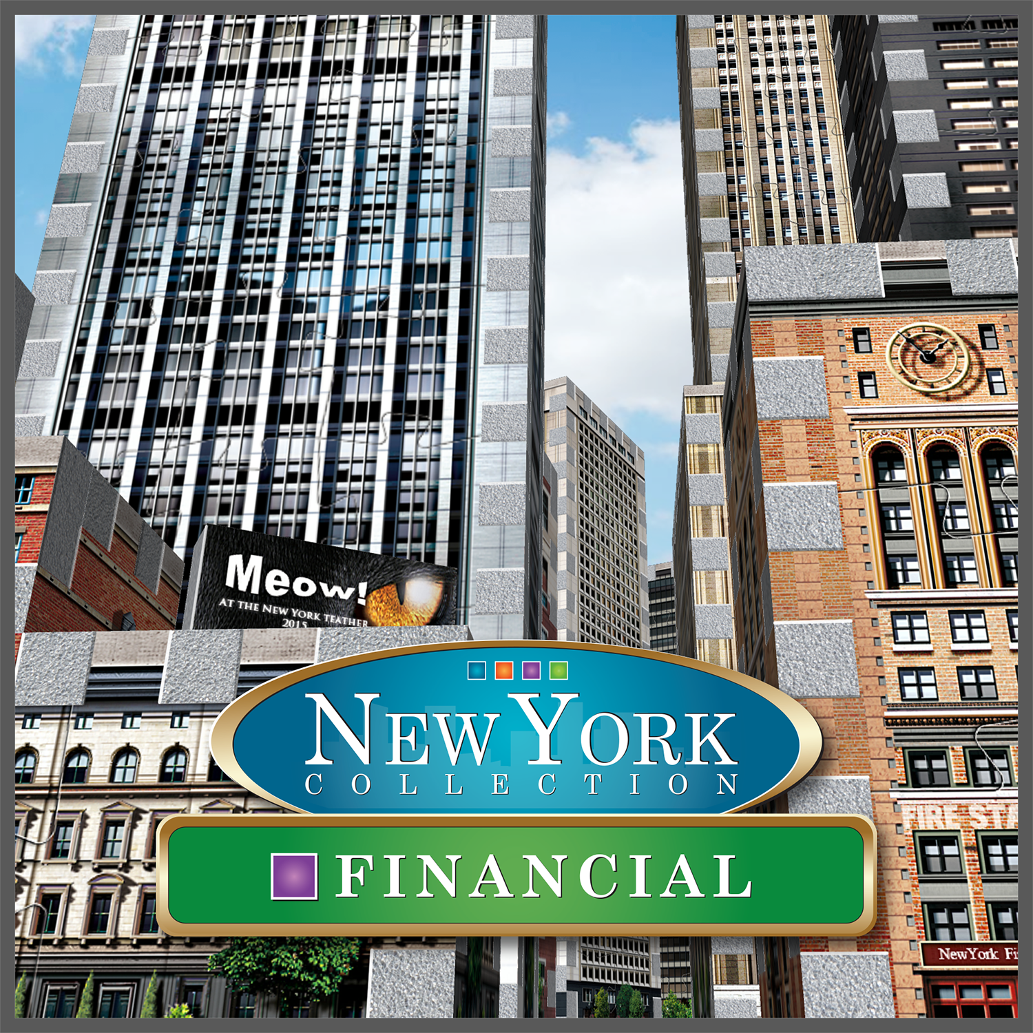 New York Collection 3D Financial Puzzle