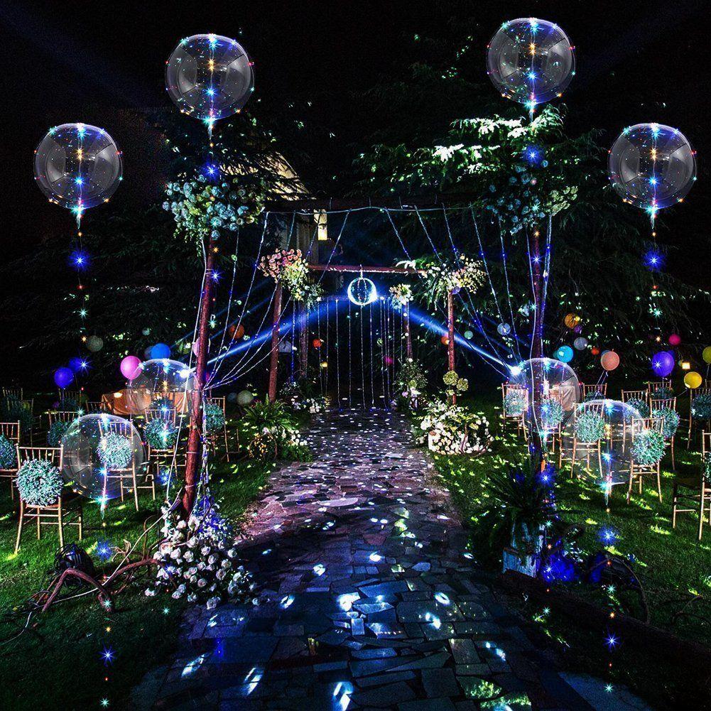"""18/"""" LED Balloon Leucht Luftballon Helium für Geburtstag Hochzeit Weihnachten Neu"""