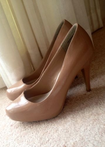 ff537ceb357e New Look Nude High-heeled Court Shoes Size 6 39 Wide Fit  ebay  fashion   women