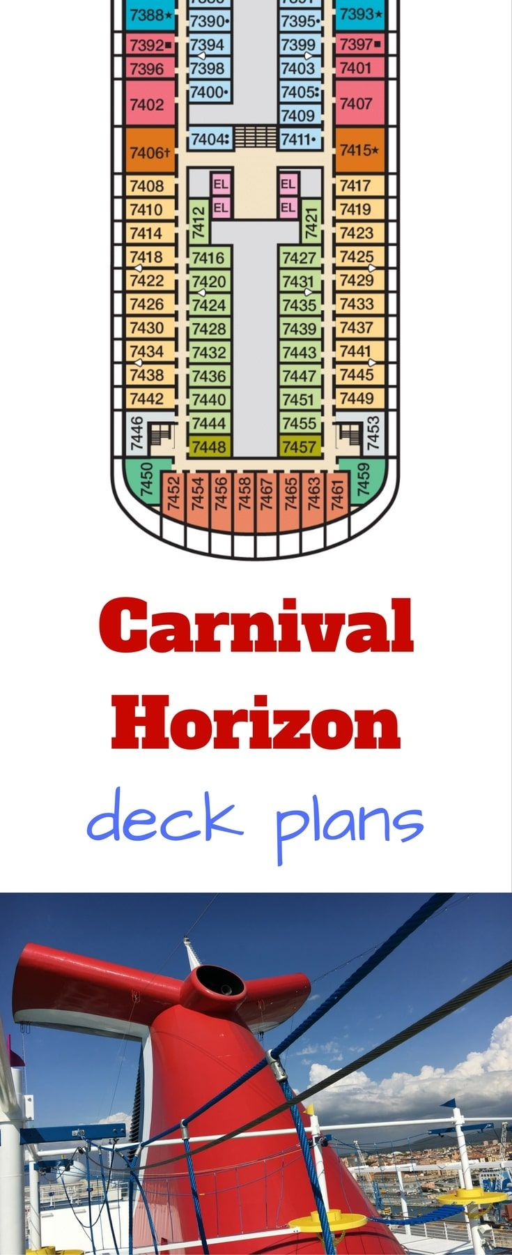 Carnival Horizon Deck Plans in 2019 | Carnival Cruise Line ... on