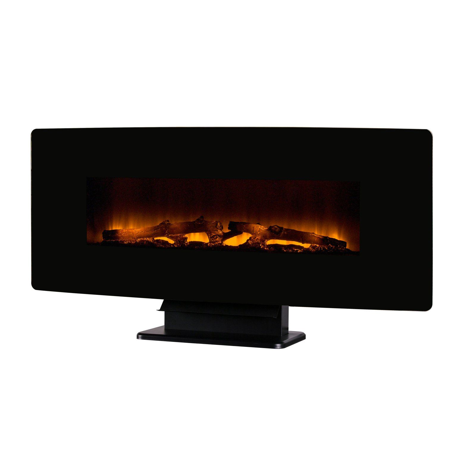 Muskoka Curved Front Wall Mount Electric Fireplace Curved Glass