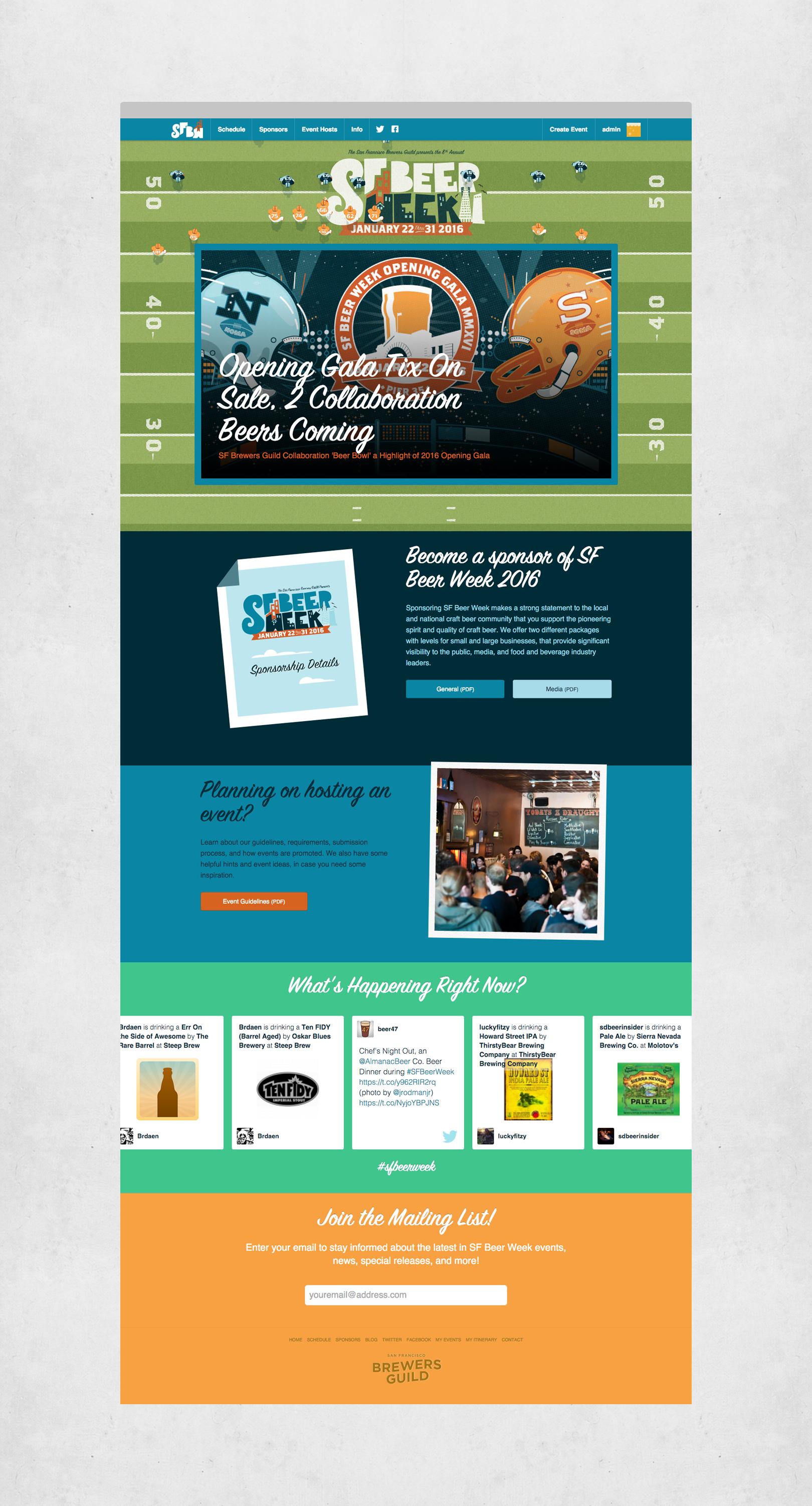 Sf Beer Week Responsive Website Design Development Gamut San Francisco Ca Design Development Development Beer Week