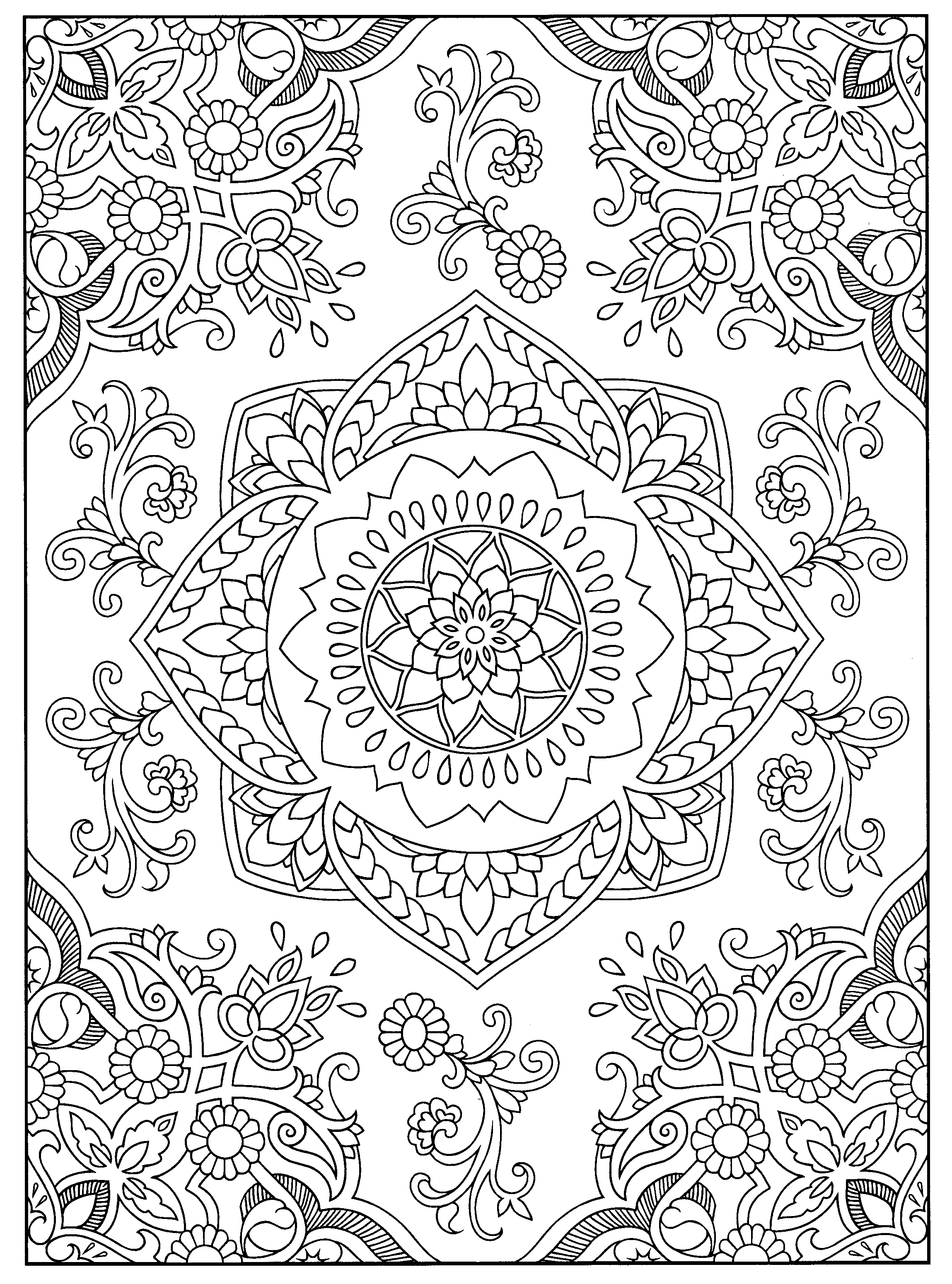 Henna Designs Coloring Pages