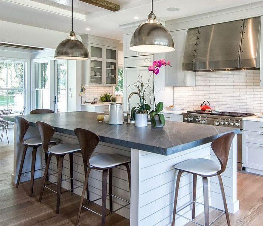 49 totally inspiring vintage farmhouse style kitchen island ideas shiplap kitchen countertop on farmhouse kitchen decor countertop id=47389