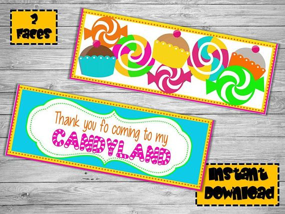 Candyland Birthday- Candyland Party - Candyland Decorations- Candyland Party supplies -bag topper -C #candylanddecorations Candyland Birthday- Candyland Party - Candyland Decorations- Candyland Party supplies -bag topper -C #candylanddecorations