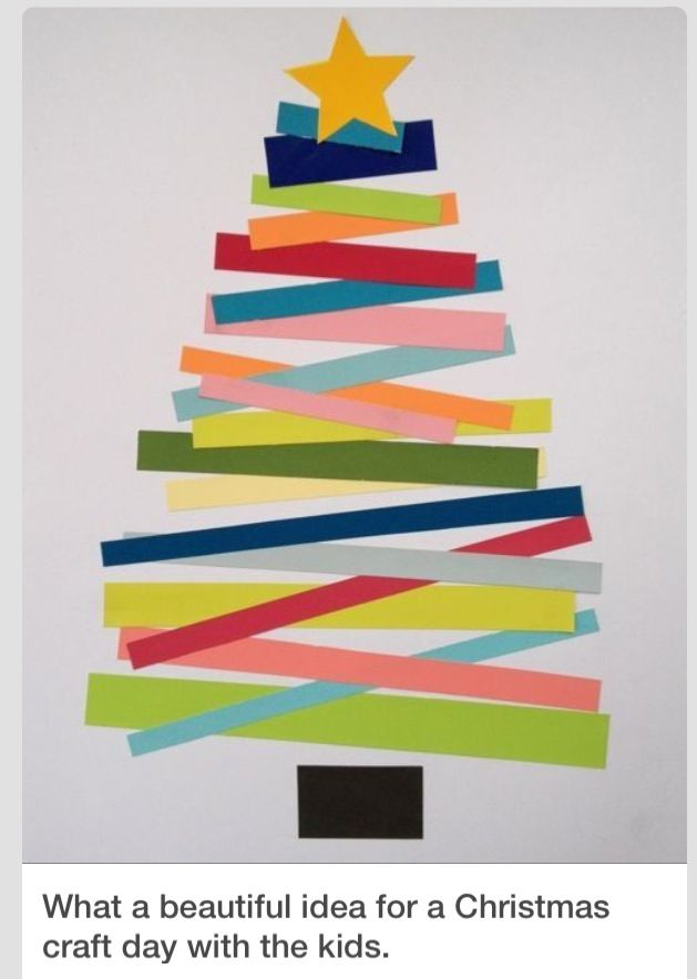 Christmas Craft Card Ideas Part - 31: Kid Crafts. Christmas Tree. Good Idea For My Toddlers Classroom