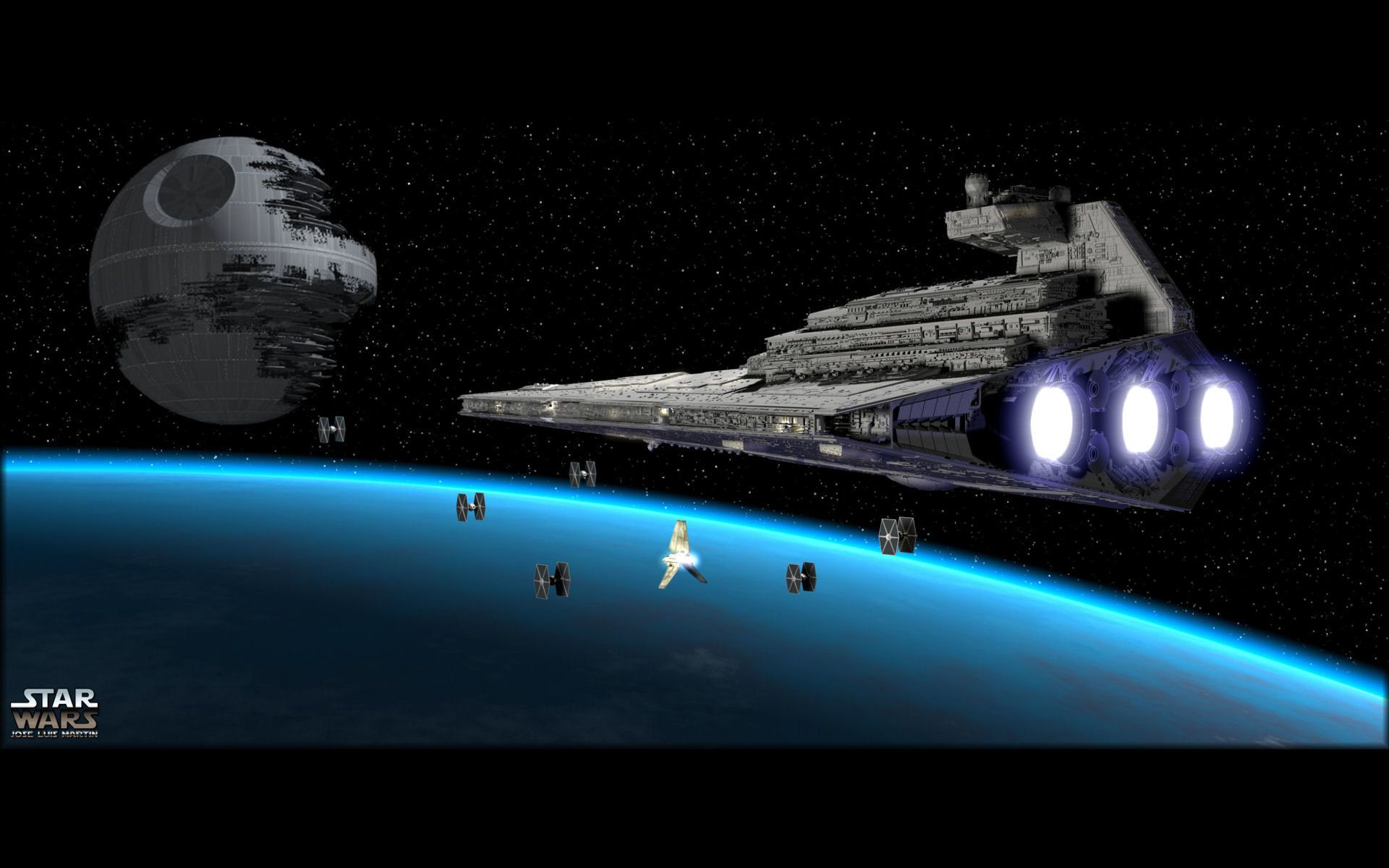 Star Wars Space Wallpaper 1920x1200 Pictures Wallpapers O