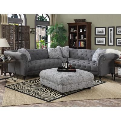 1295 99 Antoinette Symmetrical Sectional Sofa Tufted Sectional