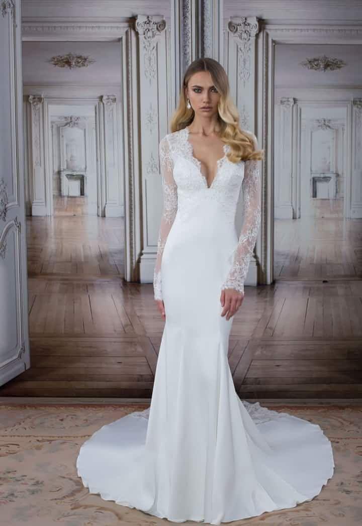 90 increíbles vestidos de novia con manga | vestidos de novia