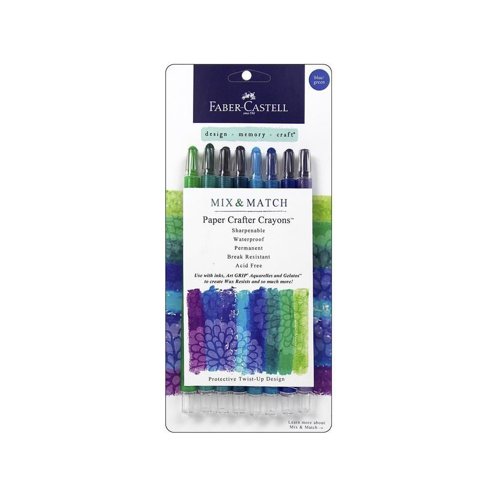 Fabercastell Paper Crafter Mm Crayon Set Blue Grn Other Art Sets