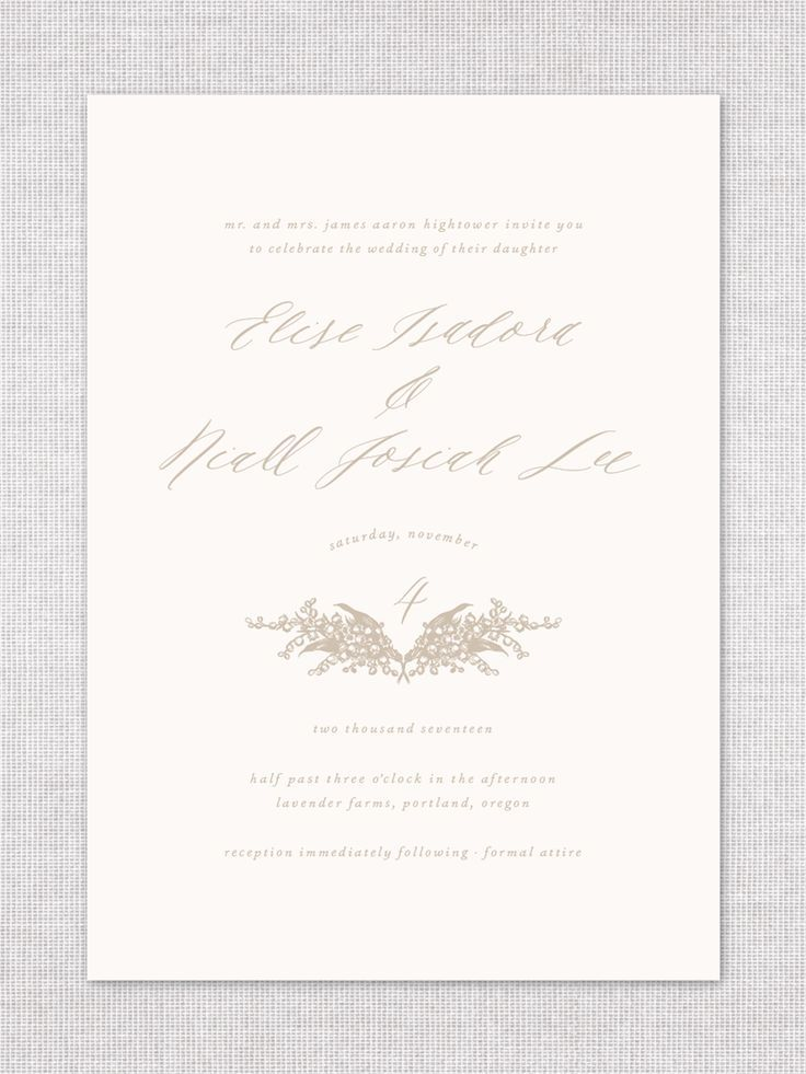 Organic calligraphy + lily of the valley | The Wyn Suite by Everly ...