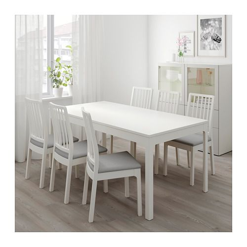 Ekedalen Extendable Table Ikea The Smart Design Means That The Table Top Has No Seams When You Use The Table With Small Kitchen Tables Dining Table Ikea Dining