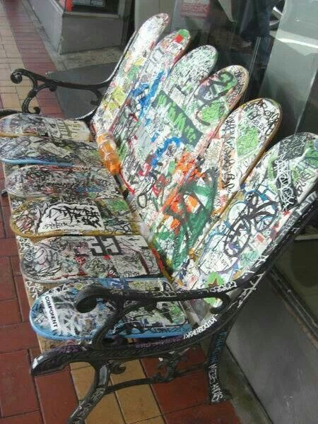 Skateboard Bench Project For The Skate Park Skateboard Mobel Basteln Und Selbermachen Projektideen