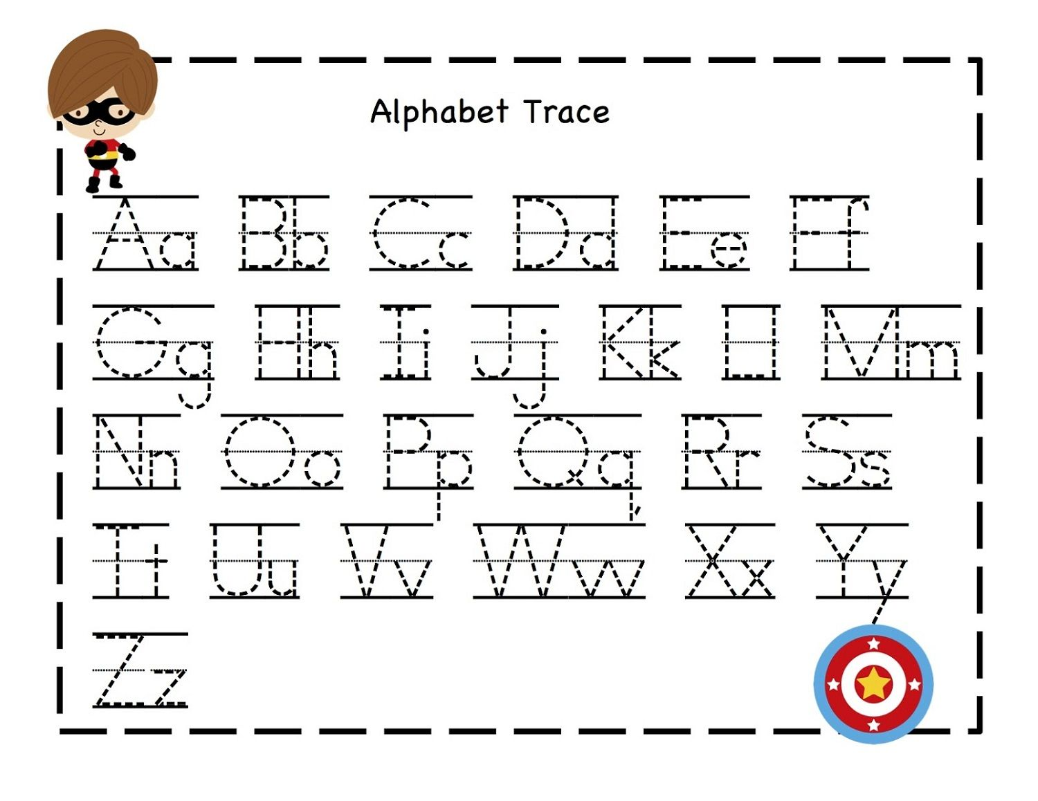 alphabet tracing pages for kids exercise dear joya - Kindergarten Tracing Pages