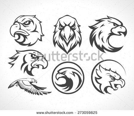 Eagles Logos Emblems Template Set Mascot Symbol For Business Or