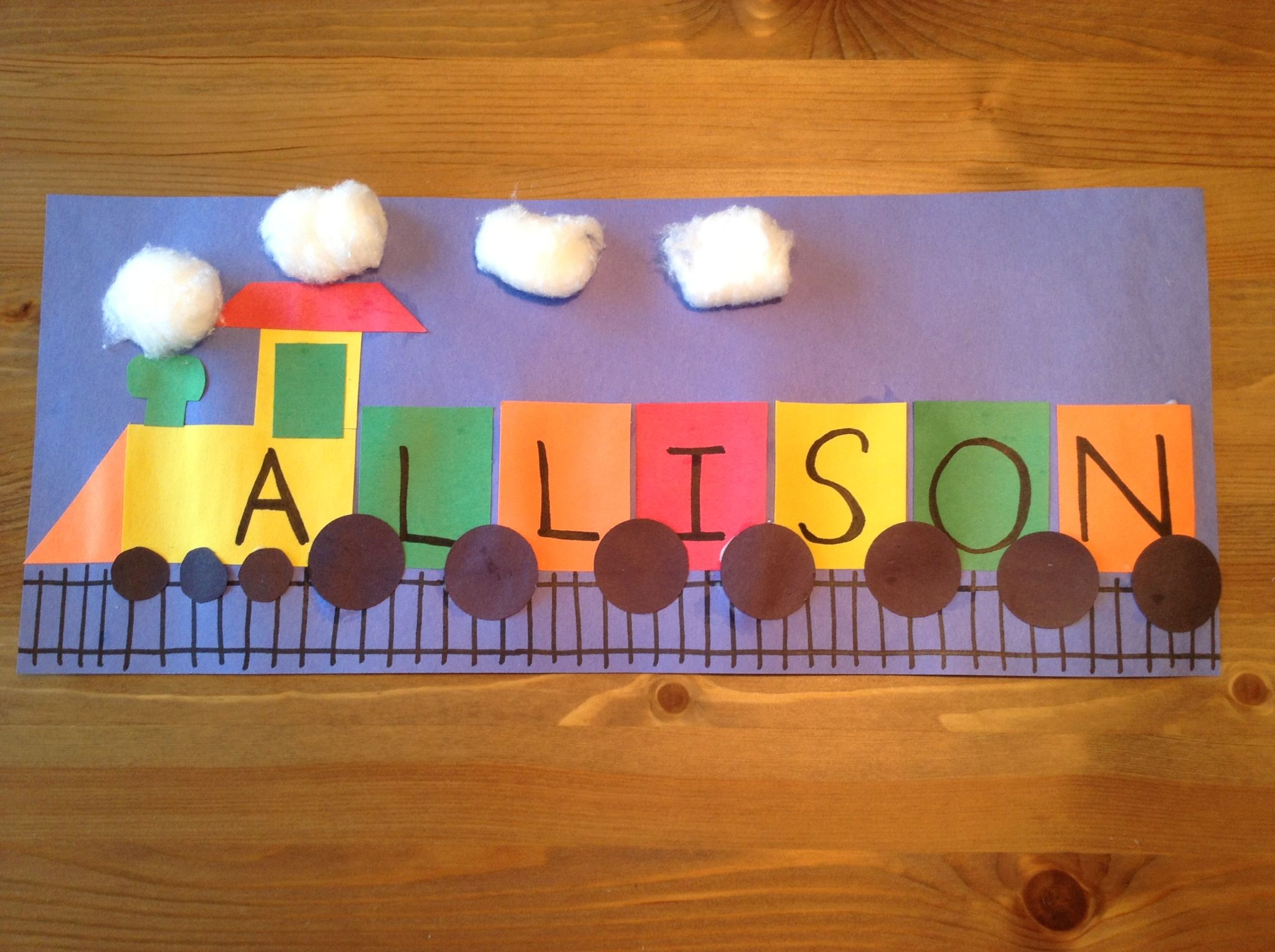 T is for train craft may 12 could make with reposition for Kids name letters