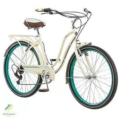 "26"" Schwinn Women 7 Speed Classic Steel Cruiser Bike Bicycle Beach Road Vintage"