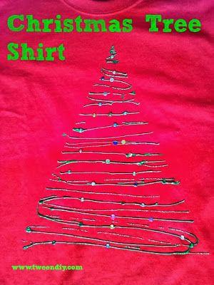 tween diy: DIY Friday: Christmas Tree Shirt tutorial