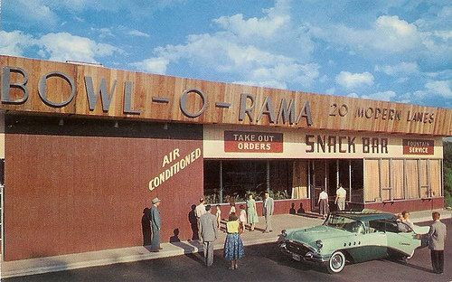 Atomic Era Mid Century Modern Bowling Alley Portsmouth Bowling Vintage Lifestyle